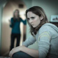 Daughter ignoring mother