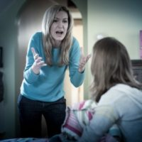 Mom losing her temper with her teen daughter