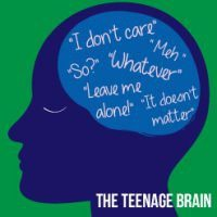 "Image of the teenage brain thinking ""whatever"""