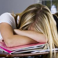 adhd child exhausted from school and homework